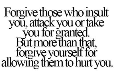 i forgive me.