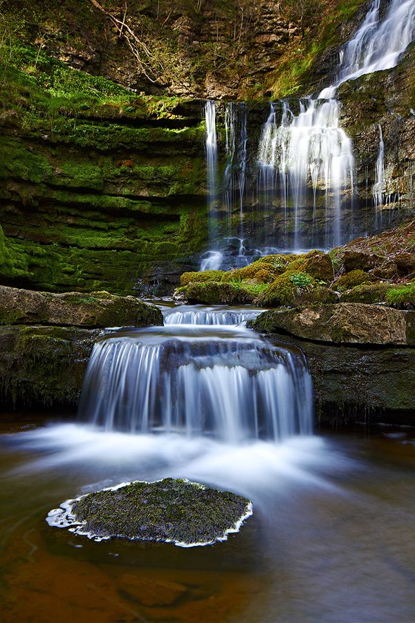 Scaleber Force, near Settle, Yorkshire, England by Paul Sutton