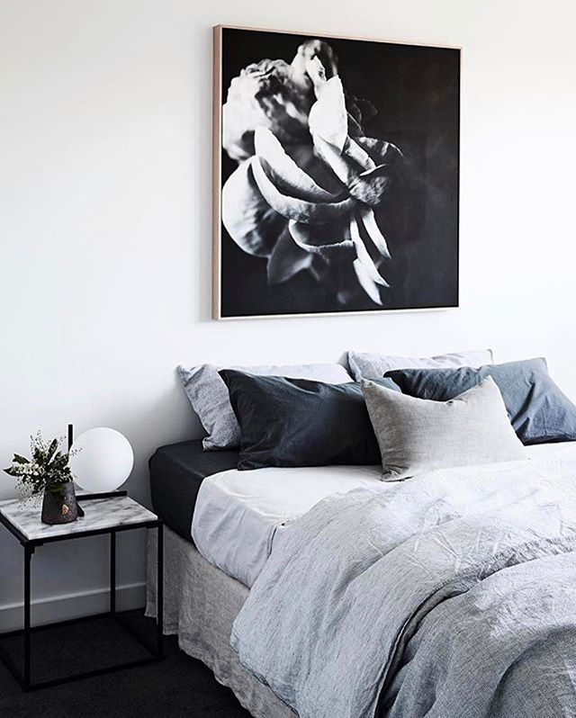 THIS BED ✔️ #Repost @thomasarcherhomes ・・・ The big bedrooms of our Como are made for sleep ins...especially when the beds look this good Amazing monochrome artwork by @tsavagephoto available through @studiogallerymelbourne styling by @aimeestylist @jamesgeer