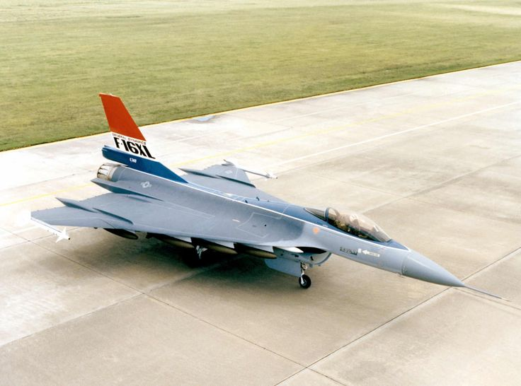 "F-16XL ""SCAMP"": Super-sonic Cruise And Maneuverability Prototype. Compared to the convential cruciform F-16, the SCAMP possessed considerably greater range and payload, thanks partly to greater internal volume-also potentially useful for a larger avionics suite. The design also featured superior super-sonic maneuverability (not unlike the considerably larger British Vulcan bomber which also featured a ""cranked arrow"" modified delta wing) especially at high altitude. At low altitude the SCAMP…"