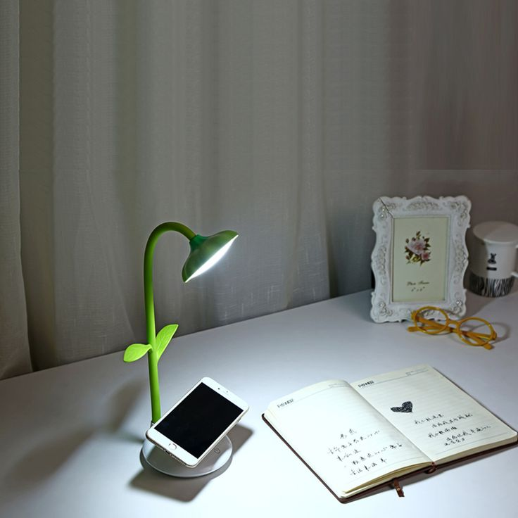 Sunflower Desk Lamp Flexible Gooseneck LED Table Lamp with Phone Stand Holder Touch Sensitive Rechargeable #Affiliate