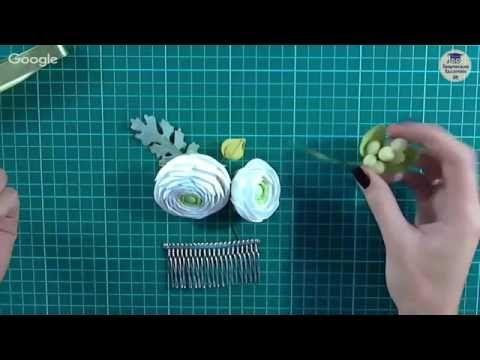 """Мастер-класс """"Создание композиции с цветами из фоамирана и крепление её на гребень"""" - YouTube"""