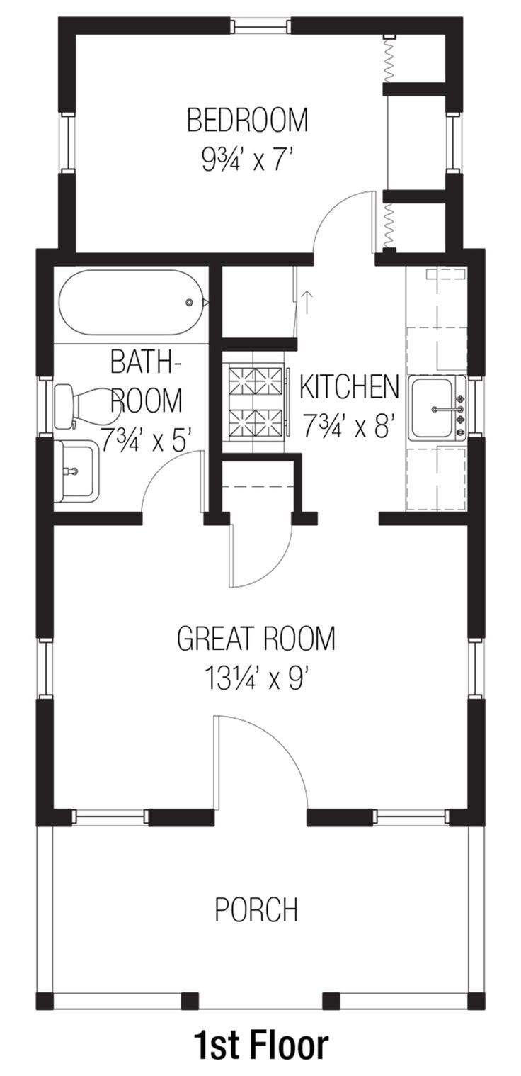 143 best tiny house plans images on pinterest small for Tiny house with main floor bedroom