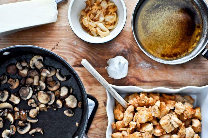 "brown butter parmesan ""chicken"" linguine"