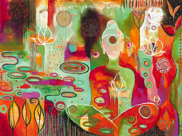 """""""Rooted in Love"""" by Flora Bowley, 2011 #florabowley #braveintuitivepainting"""