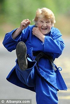 Karate expert: Mrs Mallett started learning karate in 1979 and has been an instructor since 1987