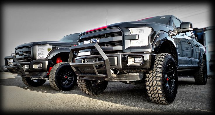 """What do you think of the the web that these Kentwood Kustoms modified 2015 #Ford F-Series """"Black Widow"""" editions trucks weave folks?"""