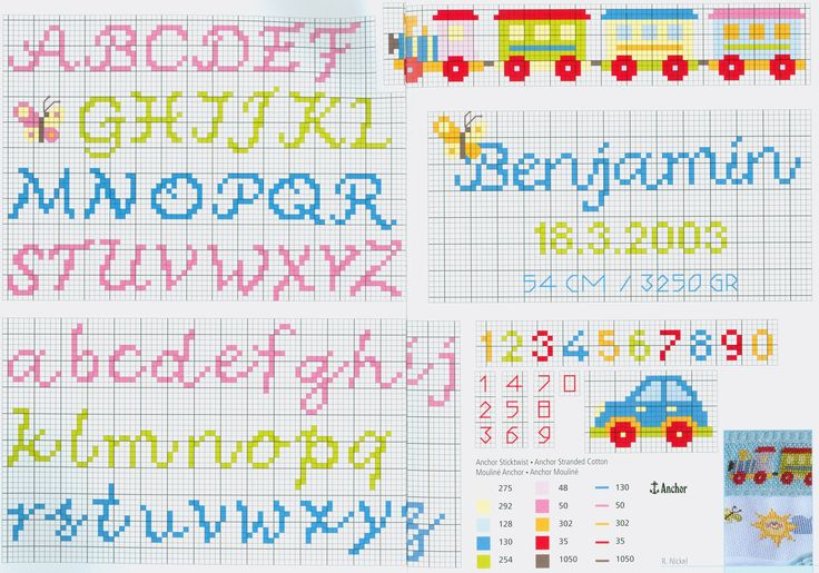 Cute alphabet free cross stitch pattern from www.coatscrafts.pl