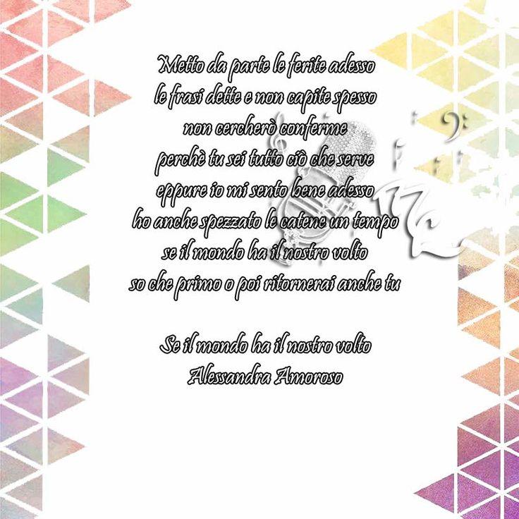Se il mondo ha il nostro volto - Alessandra Amoroso  https://www.facebook.com/musicorner/