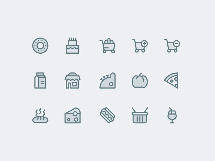 Supermarket Icons Free More PSD: 72pxdesigns