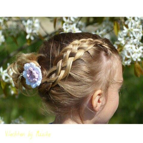 Five strand braid/ vijfstrengen vlecht Hairstylist www.mooibijmaaike.nl