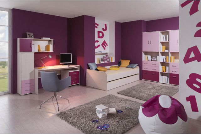 Funky Woodline creme Tmavofialová / Funky Woodline Cream dark purple