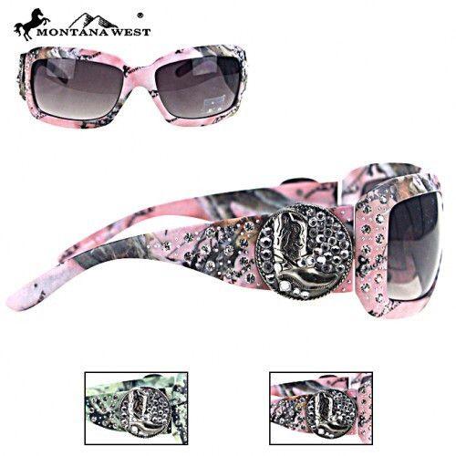 Montana West Cowboy Boot Camo Sunglasses