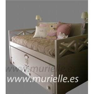 cama doble con aspa