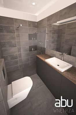 bathroom in Radom, scandinavian design