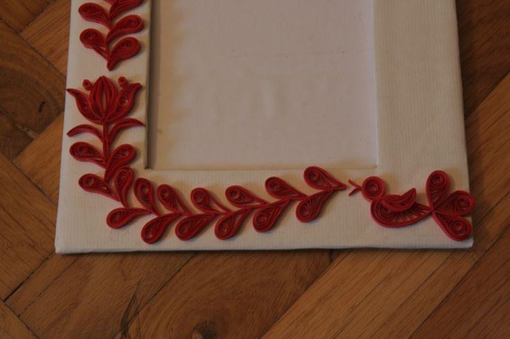 Quilled frame - hungarian motifs
