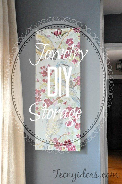 DIY Jewelry Storage - I needed hidden jewelry storage.  Something I would know was there but no one else (my daughter in particular)would know about. I couldn't