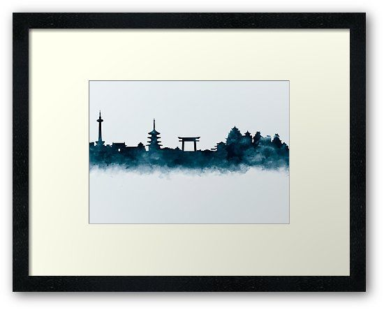 Kyoto Skyline   #kyoto #japan #skyline #landscape #cityscape #art #framed #prints #home #office #wall #decor #gift #ideas