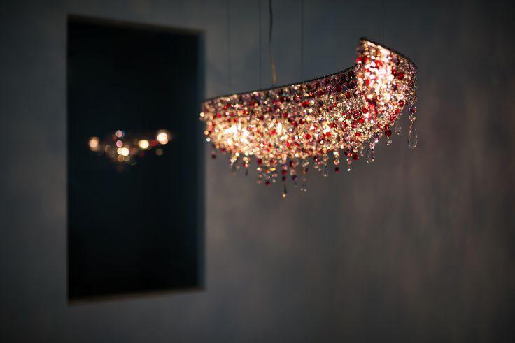 Vague Crystal Chandelier by Manooi www.manooi.com #Manooi #Chandelier #CrystalChandelier #Design #Lighting #Vague #luxury #furniture