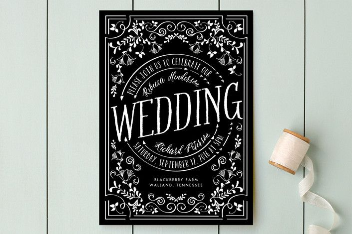 Let's Get Married Wedding Invitations by Chris Griffith at minted.com