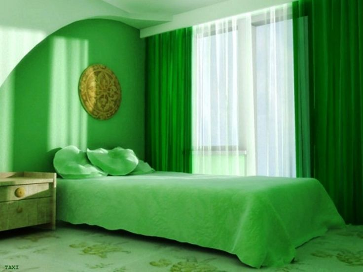 Green And White Color Bedroom Curtain 2014 Part 60