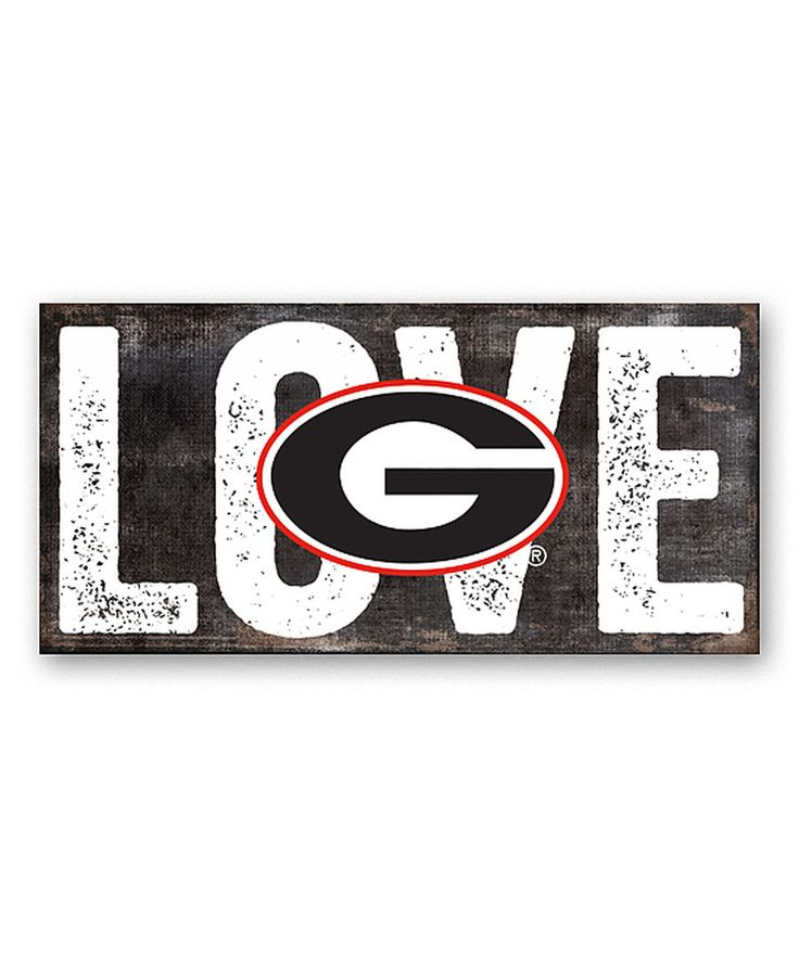 Another great find on #zulily! Georgia Bulldogs 'Love' Sign by Fan Creations #zulilyfinds