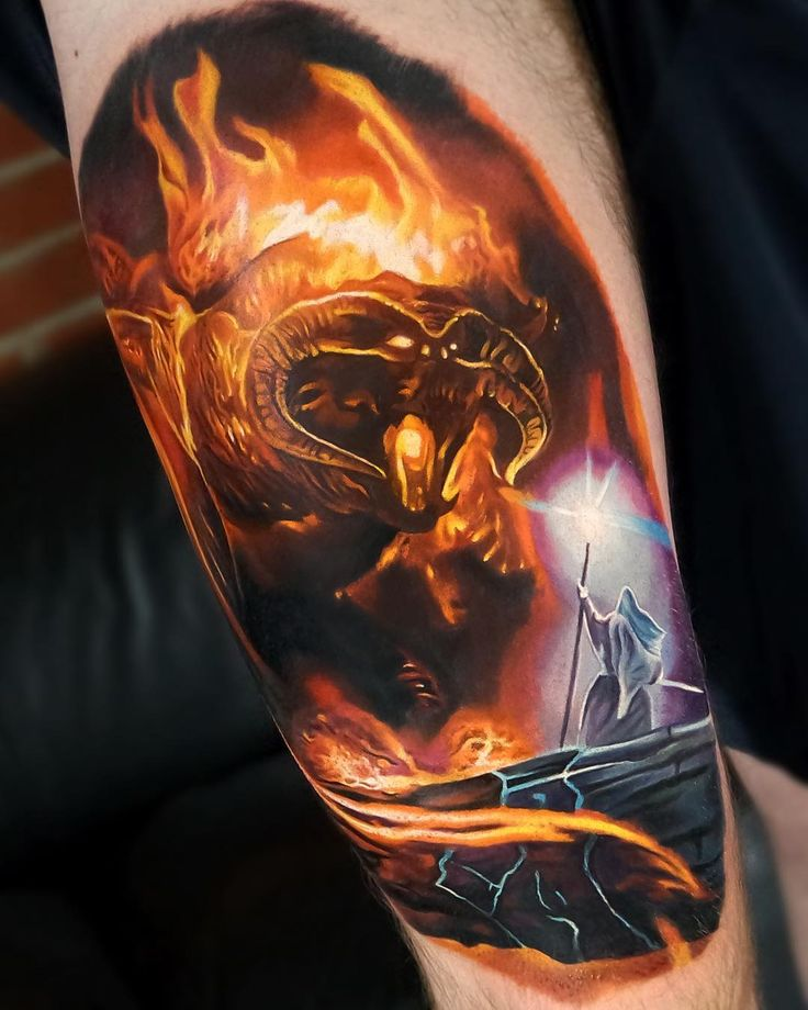 Balrog Lord Of The Rings Tattoo