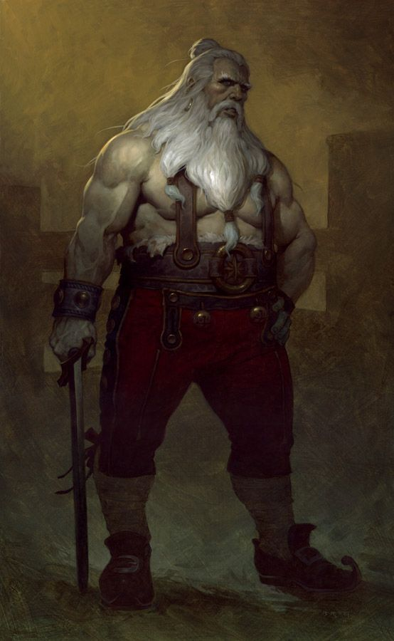 "Santa Clause, as he appears in Brom's book ""Krampus The Yule Lord"". The depictions are fantastic."