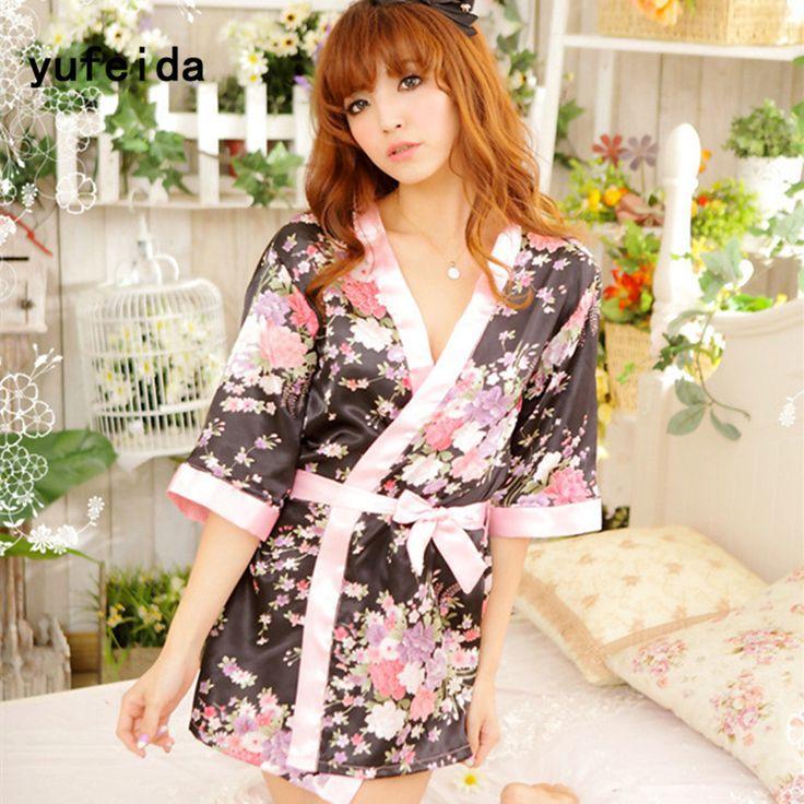 YUFEIDA Silk Satin Robe Bathrobe Night Robe Bath Sakura Floral Print Loose String Cardigan Robe Dressing Tempt Night-Gown. Yesterday's price: US $8.11 (6.68 EUR). Today's price: US $8.11 (6.69 EUR). Discount: 34%.
