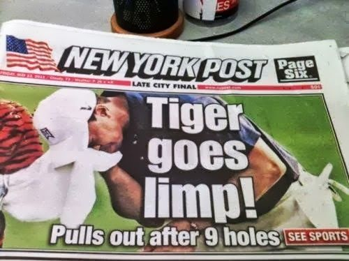 Probably the first time its happened tiger woods funny golf news