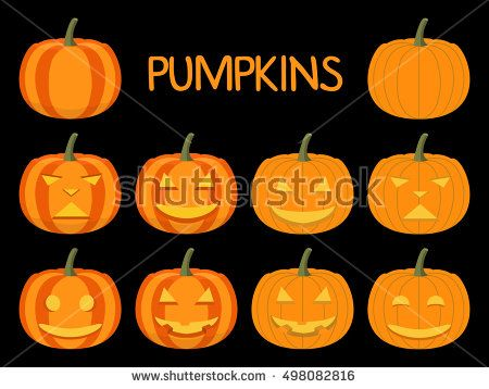 Happy Halloween party poster with smiling pumpkin head jack Design elements for the Leaflet, a banner, a poster, for the holiday Halloween.