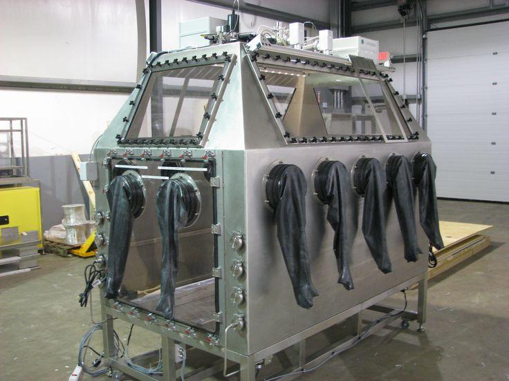 titanium welding chamber made to repair jet engine turbine blades