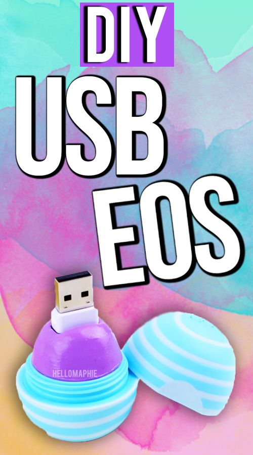 DIY EOS USB FLASH DRIVE  DIY School Supplies! Transform your old/empty EOS container into this very creative flash drive! #DIY #DIYEOS #DIYEOSUSB TUTORIAL: https://youtu.be/S9KF9J0o50w