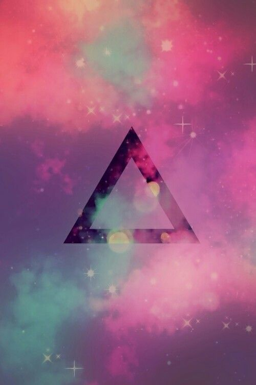 59 best emo wallpapers images on Pinterest | Wallpapers ... Hipster Triangle Galaxy Wallpaper