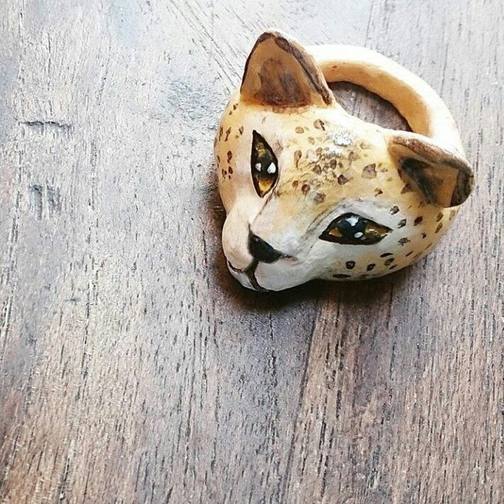 DIY Leopard clay ring  Instagram : @qmjft Email : iqmjft@gmail.com