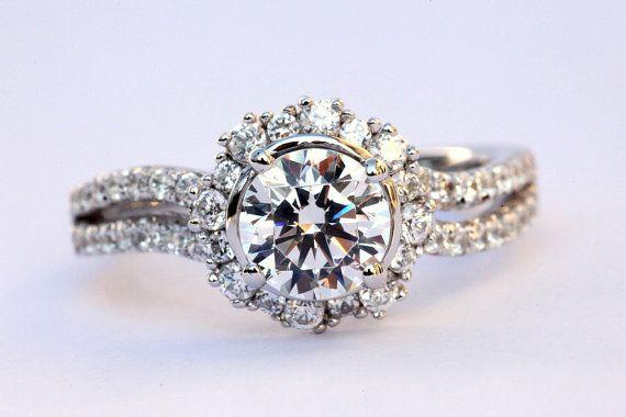: 160 Carat, Wedding Ring, Diamonds Rings, Carat Round, Lotus Ring, White Gold, Diamonds Engagement Rings, Flowers Rings, Bands Flowers