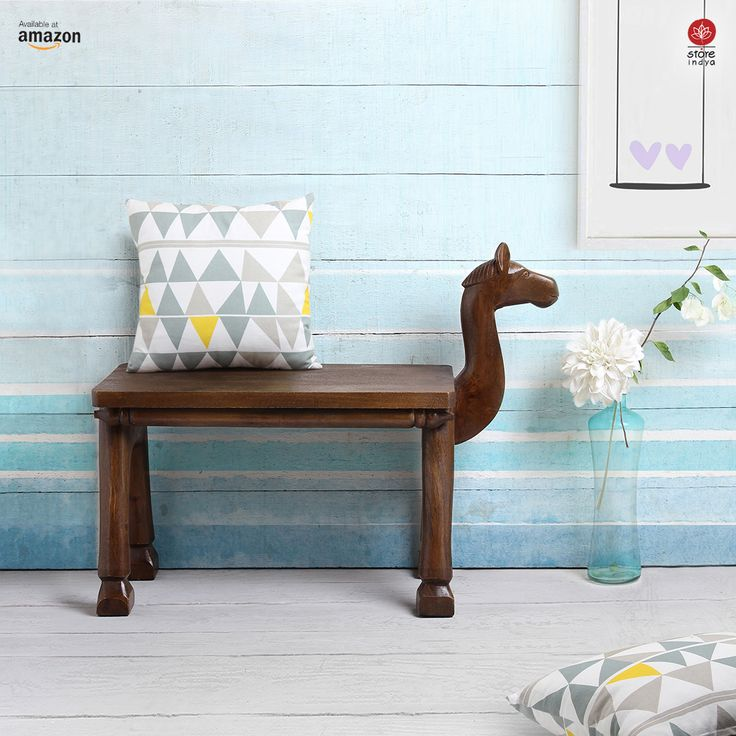 Amazon.co.uk | Store Indya | Huge Wooden End Table Side Table Bench Picnic Garden Accessories Home Decor Furniture for Entryway Outdoor Garden Nursery Playground Camel Walnut Finish #handicraft #handmade #artisan #wood #table #stool #camel #chair #seating #homedecor #home #decorations #christmas #christmasishere #christmas2017 #christmasdecoration #christmaseve #shopping #onlineshopping #amazon #StoreIndya
