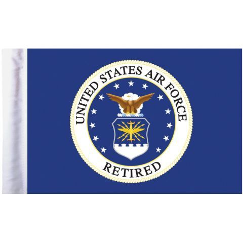 U.S. Air Force Retired Pro Pad Motorcycle Flag