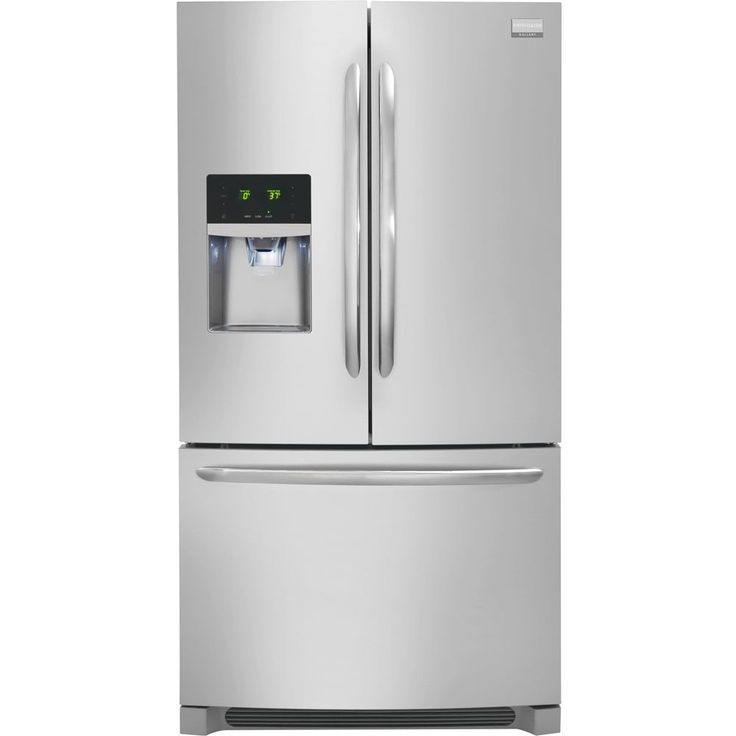 "Frigidaire Gallery DGHF2360PF 36"" Counter-Depth French Door Refrigerator, Silver"