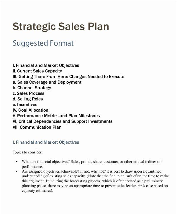 Strategic Sales Planning Template Lovely Personal Sales Plan Templates 5 Free Pdf Fo In 2021 Business Plan Template Business Plan Template Free Marketing Plan Template