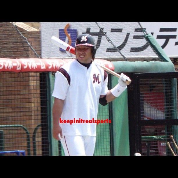 Happy Birthday: Tomoya Satozaki  1976 - Tomoya Satozaki is a Japanese professional baseball player. He is currently with the Chiba Lotte Marines in Japan's Nippon Professional Baseball.  keepinitrealsports.tumblr.com  keepinitrealsports.wordpress.com