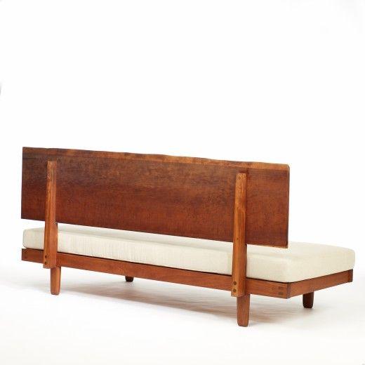 224: George Nakashima / Daybed with Plank Back