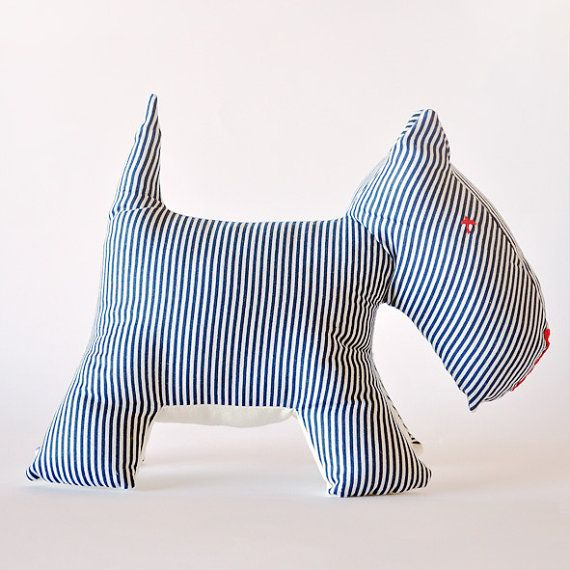 Striped Terrier: Socrates by NUNUnuDesign on Etsy