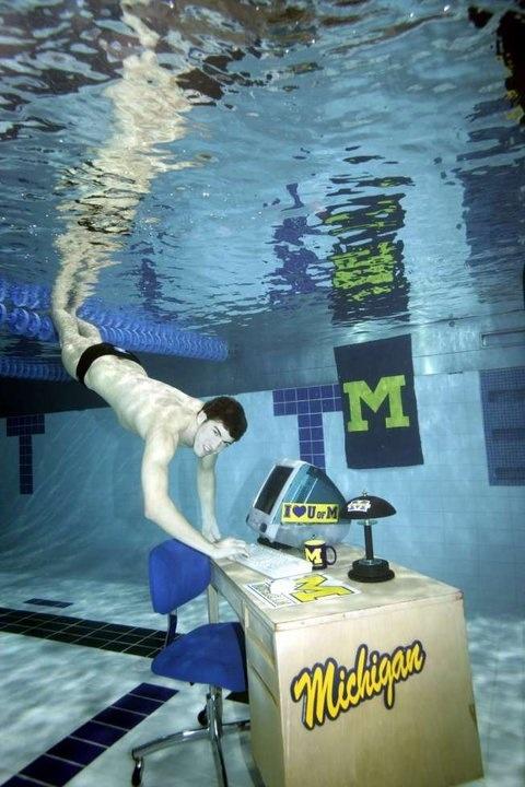 Michael Phelps. University of Michigan. #GoBlue! #LittleBearProd