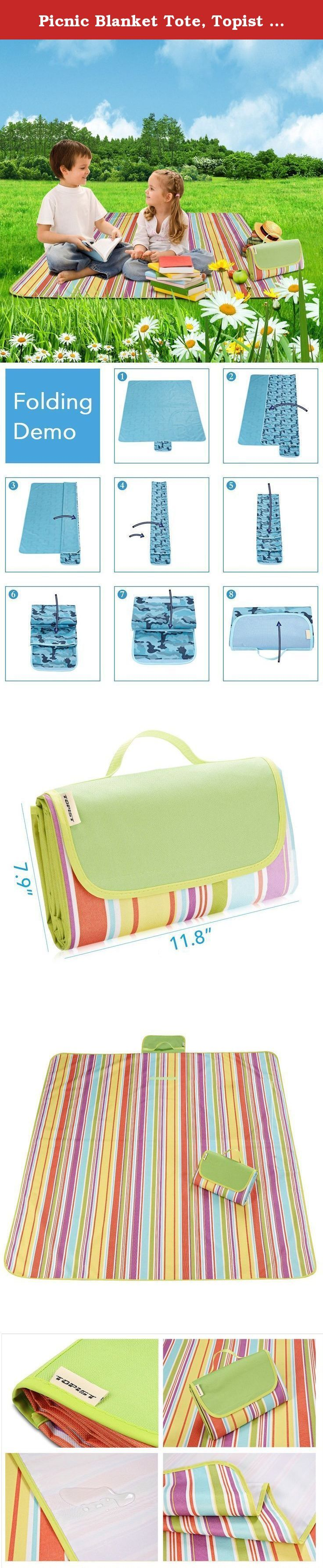 Picnic Blanket Tote, Topist Outdoor Waterproof Picnic Mat Handy Tote Foldable Moisture-Proof Mat Sandproof Backing Blanket for Picnic, Beach, Traveling, Camping, Hiking, Baby Crawling (Rainbow Stripe). The Topist mat is fashionable and unique style, small volume and light quality with no much space occupied, and it is easy to store, which could make outdoor picnic easier. The Picnic mat carry handle is waterproof and moisture proof, easy to fold, score and carry, no breaks after being…