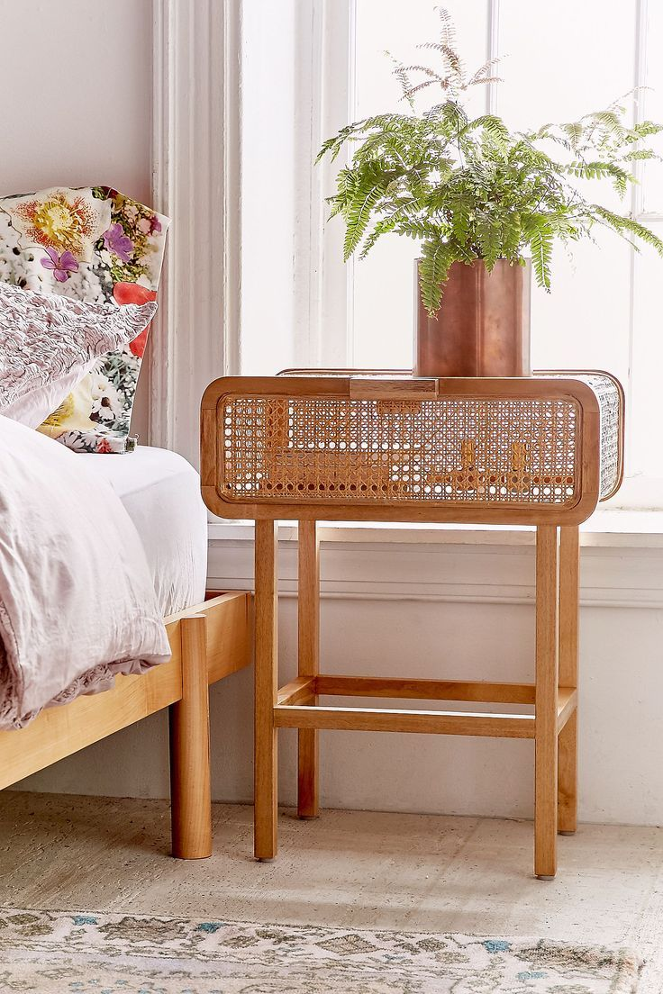 Marte Rattan Side Table Urban Outfitters Rattan Side Table