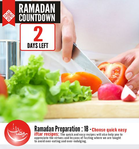 Another practical tip to avoid burnout from the kitchen dilemma many sisters face when attending iftar parties or hosting them is to select quick and easy recipes to make life easy in the kitchen this Ramadan! The quick and easy recipes will also help you to appreciate the virtues and lessons of fasting where we are taught to avoid over-eating and over-indulging. Instead, we can focus our energy in other productive actions and spiritually rewarding activities during this blessed month.