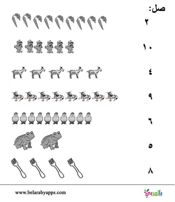 تدريبات الارقام العربية لرياض الاطفال أوراق عمل للطباعة تمارين الارقام عربي Alphabet Worksheets Kindergarten Writing Practice Worksheets Arabic Worksheets