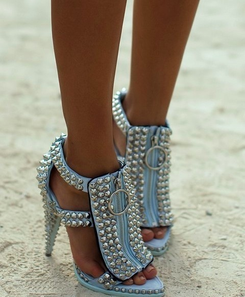pale blue + studs = perfection