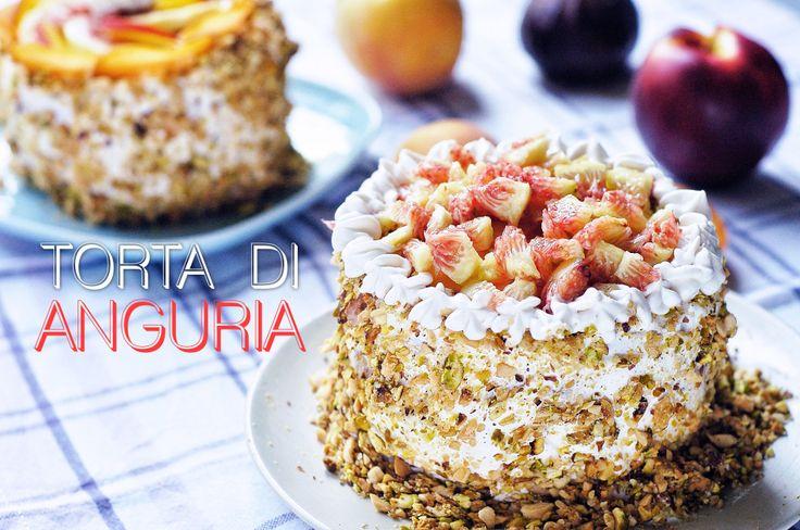 Watermelon Cake • Torta di anguria  bricioleincucina.com